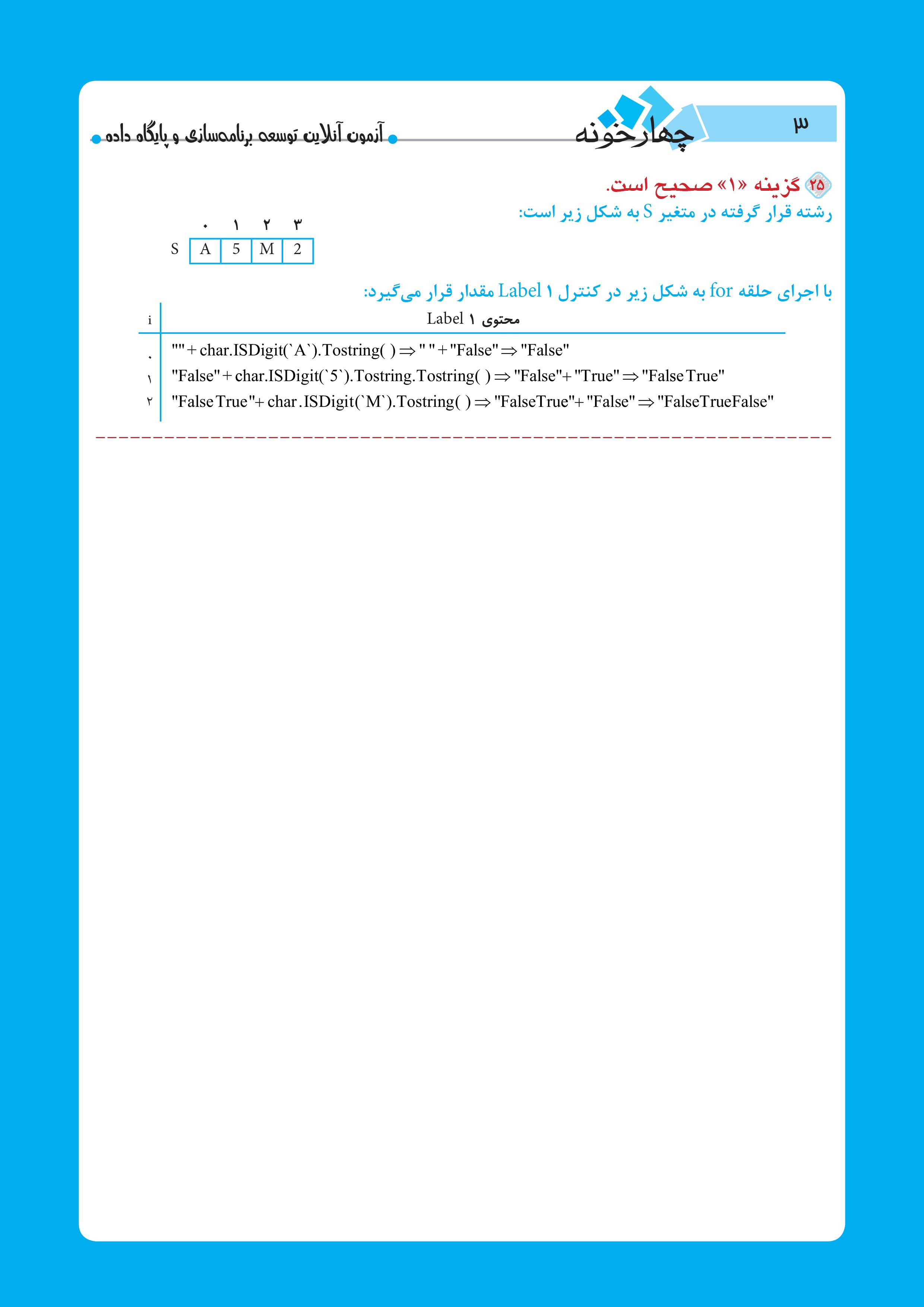 آزمون آنلاین توسعه برنامه سازی و پایگاه داده