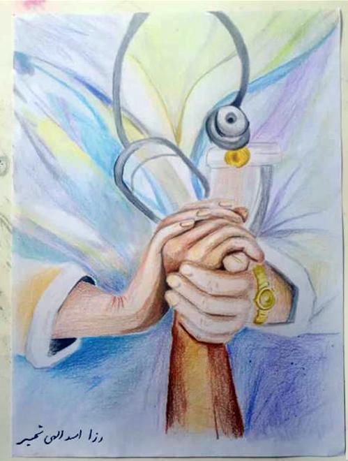 آثار برگزیده هنرجویان هنرستان سما تبریز