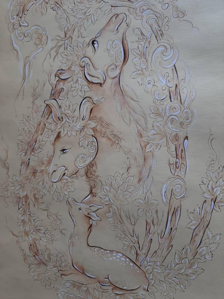 آثار برگزیده هنرجویان هنرستان تالش