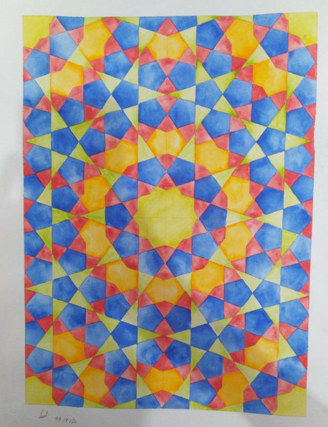 آثار برگزیده هنرجویان هنرستان فاطمیه