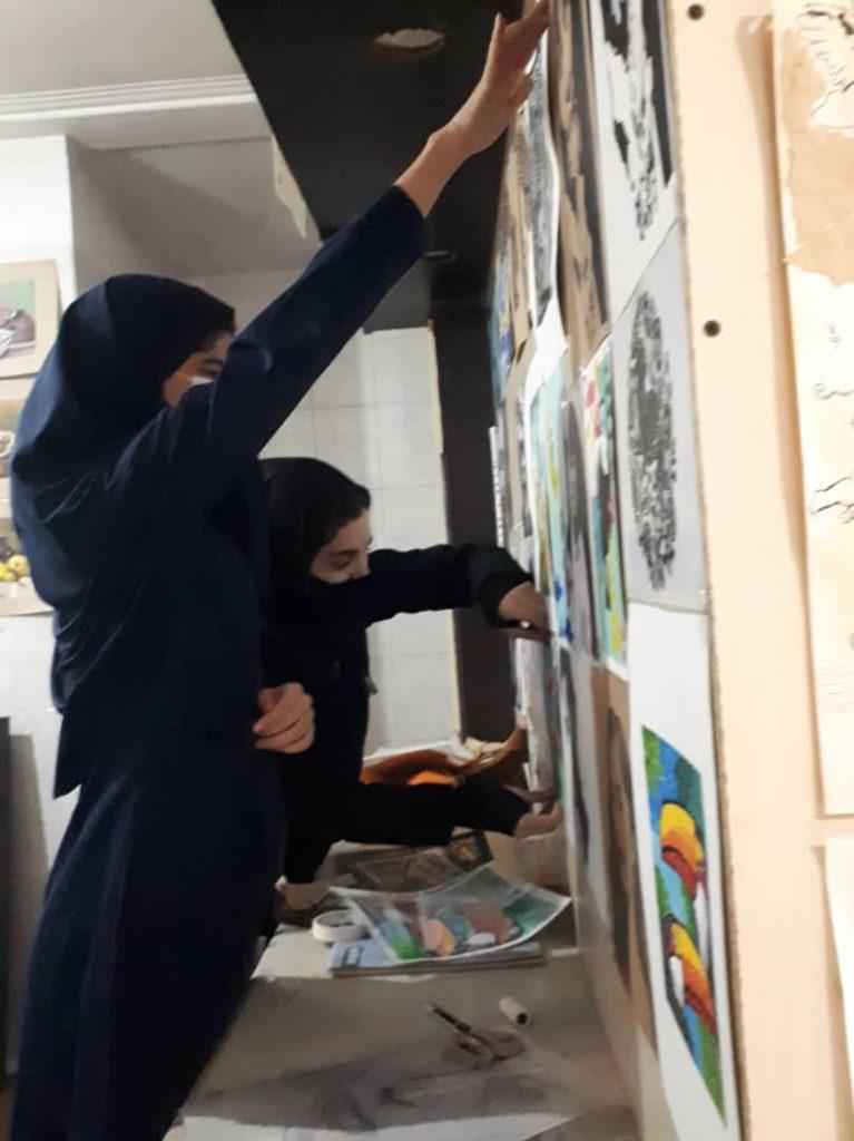 آثار برگزیده هنرجویان هنرستان قائم شهر
